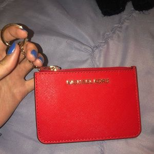 Michael kors key ring wallet